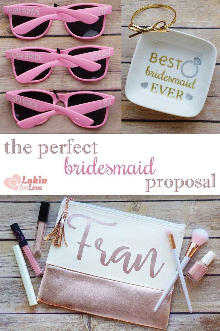 Bridesmaid proposal ideas #bridesmaid #bridalparty #bridetobe ...