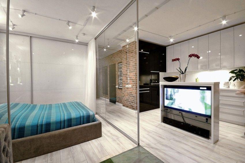 divisória em apartamento pequeno small spaces - studios - lofts - departamento de soltero moderno pequeo
