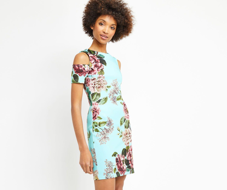 Oasis, MOLLIE SCUBA DRESS Dark Blue | Pretty Dresses | Pinterest