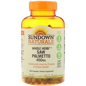 Sundown Naturals عشب كامل البلميط المنشاري 450 مجم 250 كبسولة Iherb Mineral Food Herbs Herbal Supplements