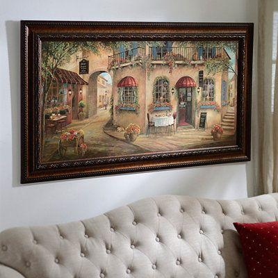 Geno S Pizza Street Scene Framed Art Print Framed Art
