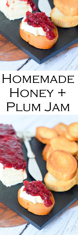 Homemade Honey + Plum Jam Recipe w. Brie and Crostinis | Easy Summer Appetizer