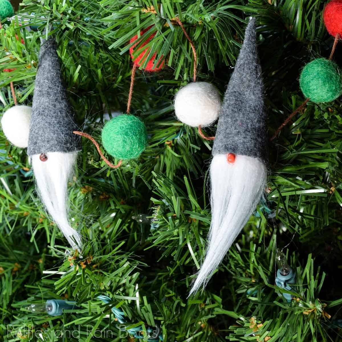 Make This Beautiful Gnome Garland in 15 Minutes! Diy