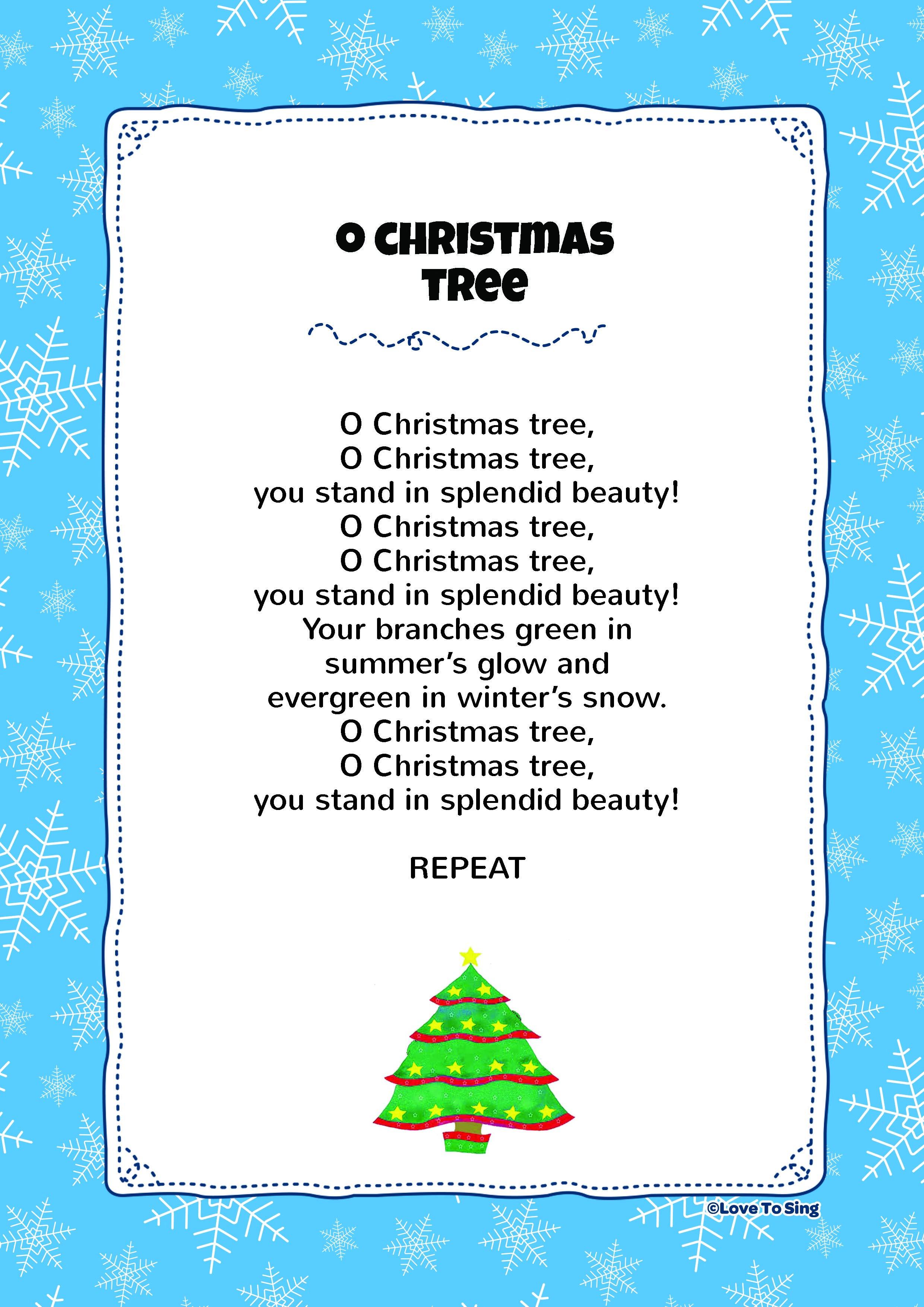 O Christmas Tree Christmas songs for kids, Christmas