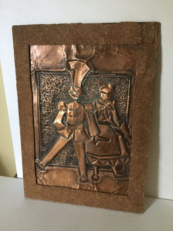 Vintage Hammered Copper Wall Art