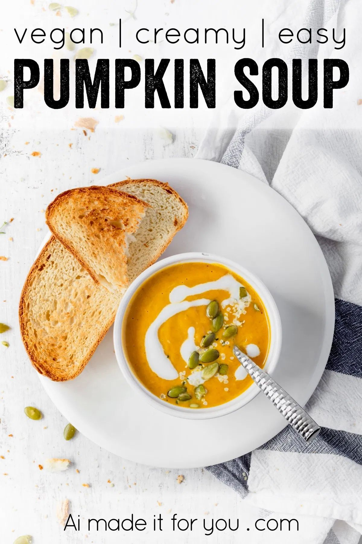 Lazy Girl S Creamy Vegan Pumpkin Soup Ai Made It For You Recipe In 2020 Clean Eating Soup Recipes Pumpkin Soup Clean Eating Soup