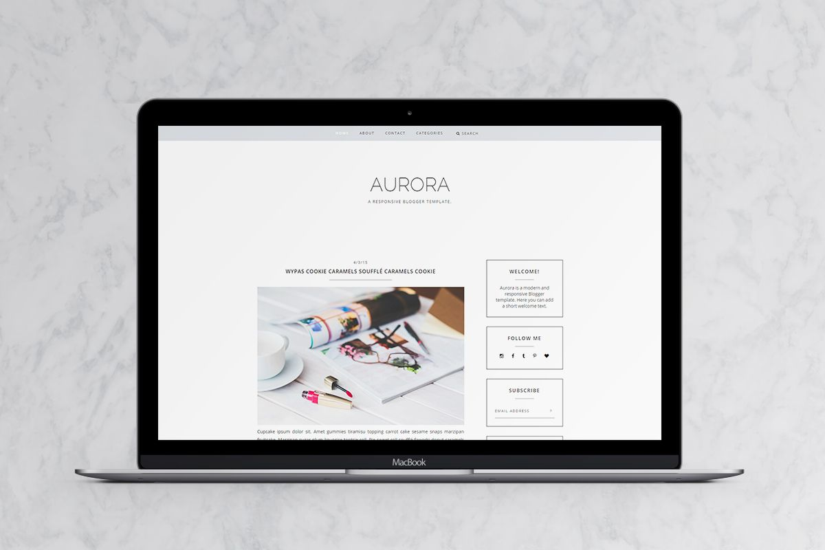 Aurora – Download Free Responsive Blogger Template - http ...