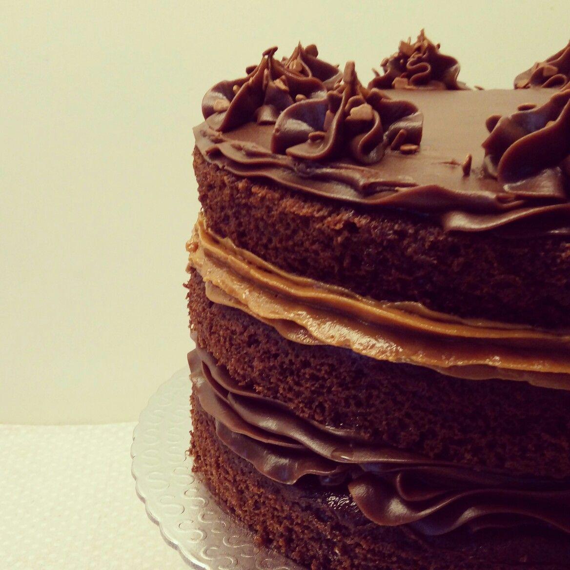 Naked cake chocolate & brigadeiro - Pecadille