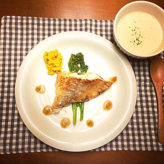 赤魚って煮物以外に使ったことなくてドキドキしました(๑¯◡¯๑) - 23件のもぐもぐ - 赤魚のソテー、新ジャガと新玉ねぎのポタージュ by ringo0109