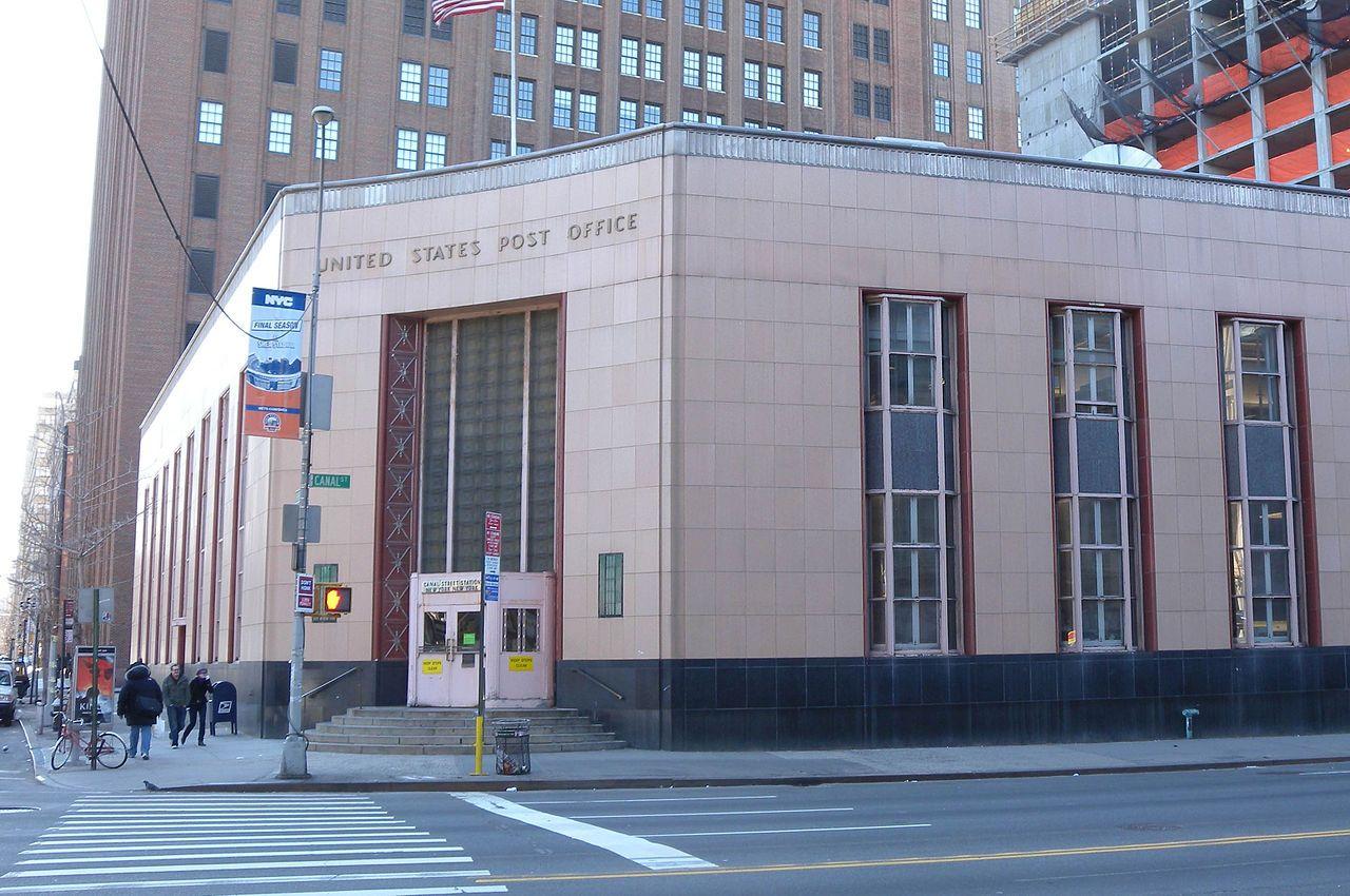 Us Post Office Canal Street Station In Manhattan Below 14th Street