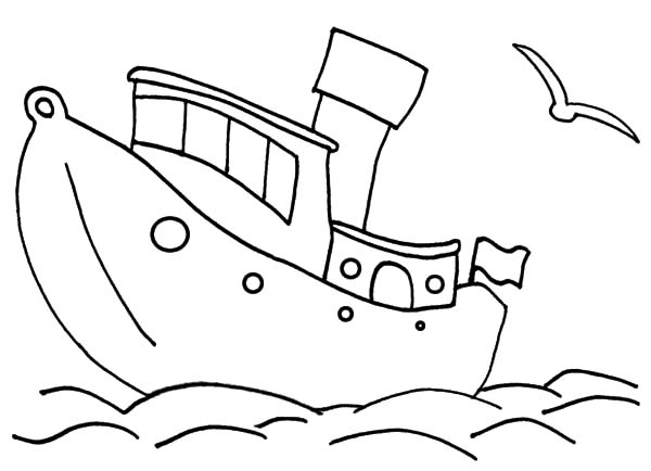 Fishing Boat Outline Coloring Pages Kids Play Color Coloring Pages Fishing Boats Coloring Books