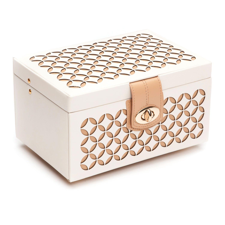 Wolf Chloe Small Leather Jewelry Box Black Jewelry case Leather