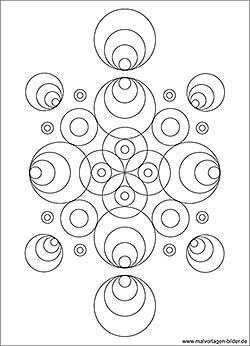 Kreise Muster Ausmalbild Malvorlagen Malvorlagen Malvorlagen