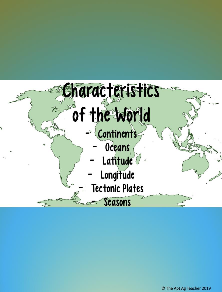 Characteristics Of The World Unit Bundle Boundaries Activities Continents And Oceans Plate Boundaries Activities [ 1166 x 890 Pixel ]