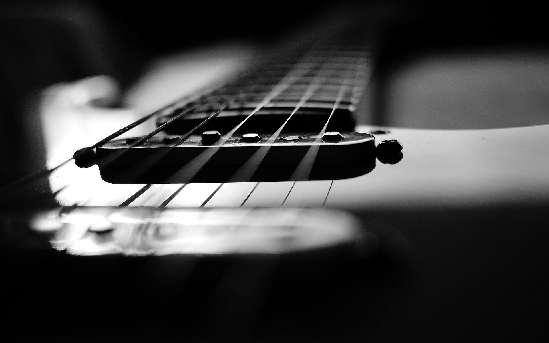 Black White Wallpaper Desktop Guitar Wallpapers 1920x1200