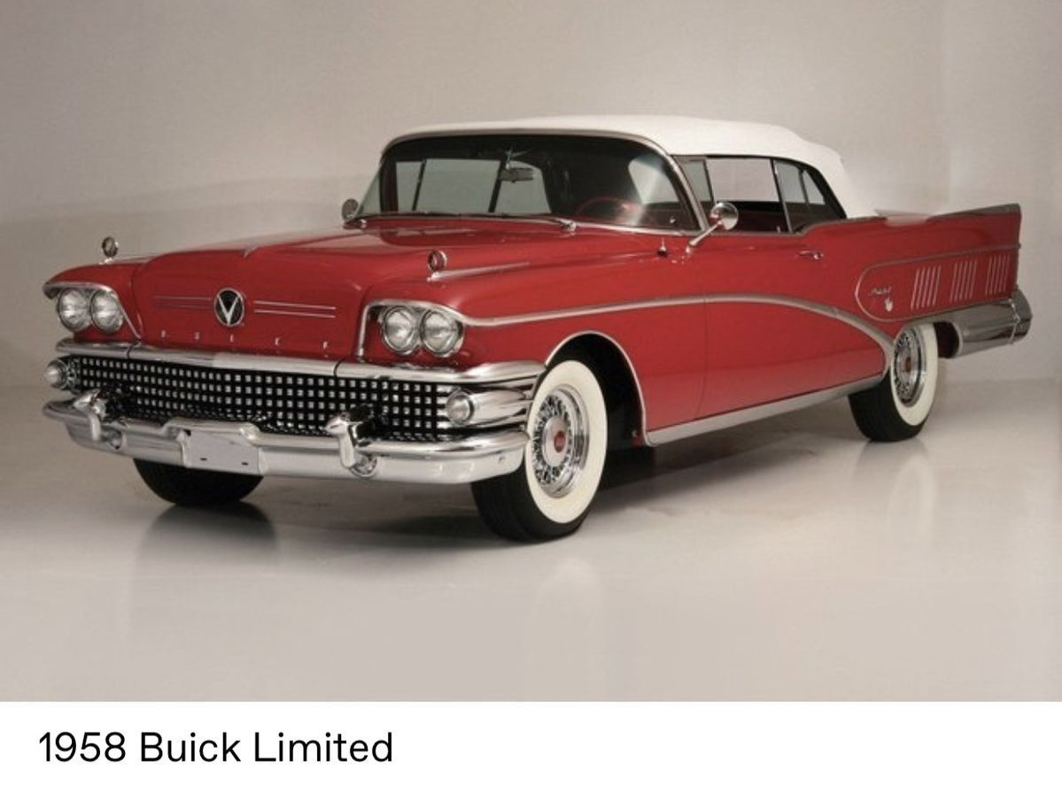 1958 Buick Limited Convertible Classic Car Insurance Classic