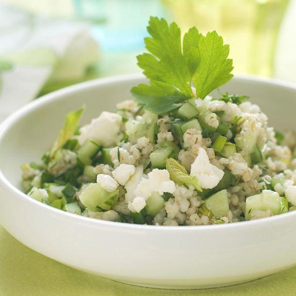 Taboulé de semoule aux légumes verts | Recette | Taboulé ...