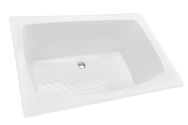 Small Bathtub or Shower Bath - Azzurro 1200mm - Decina | Bathroom ...