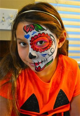 easy sugar skull fancy face art  services  face art