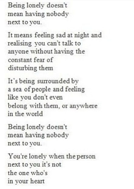 What does loneliness feel like
