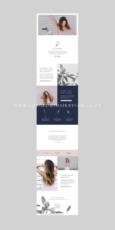 Gorgeous Hair by Sam — Custom Website Design  Hair salon web