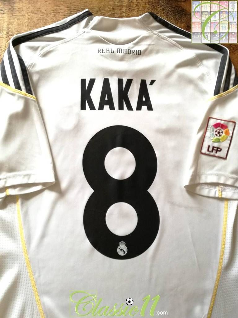 cbf7d5859ef 2009 10 Real Madrid Home La Liga Football Shirt Kaka  8 (S ...