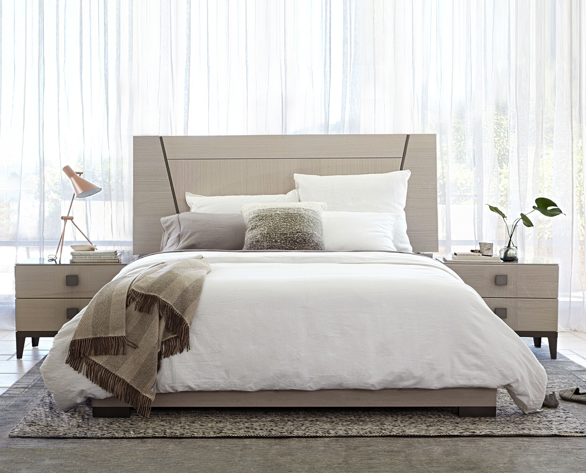 Monchiaro Bed and Nightstands from Dania Furniture Co modern