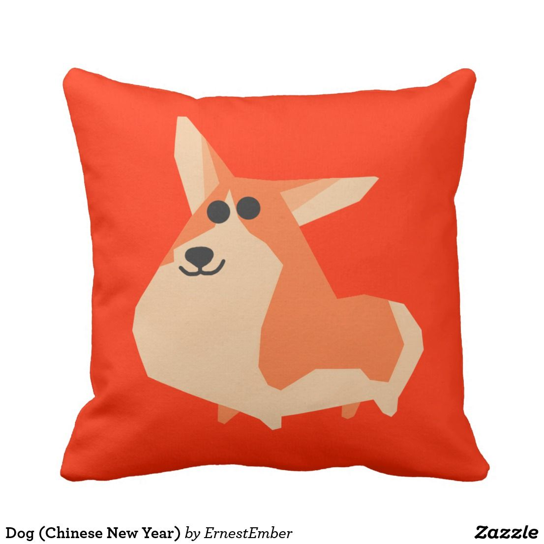 Dog (Chinese New Year) Throw Pillow dog puppy