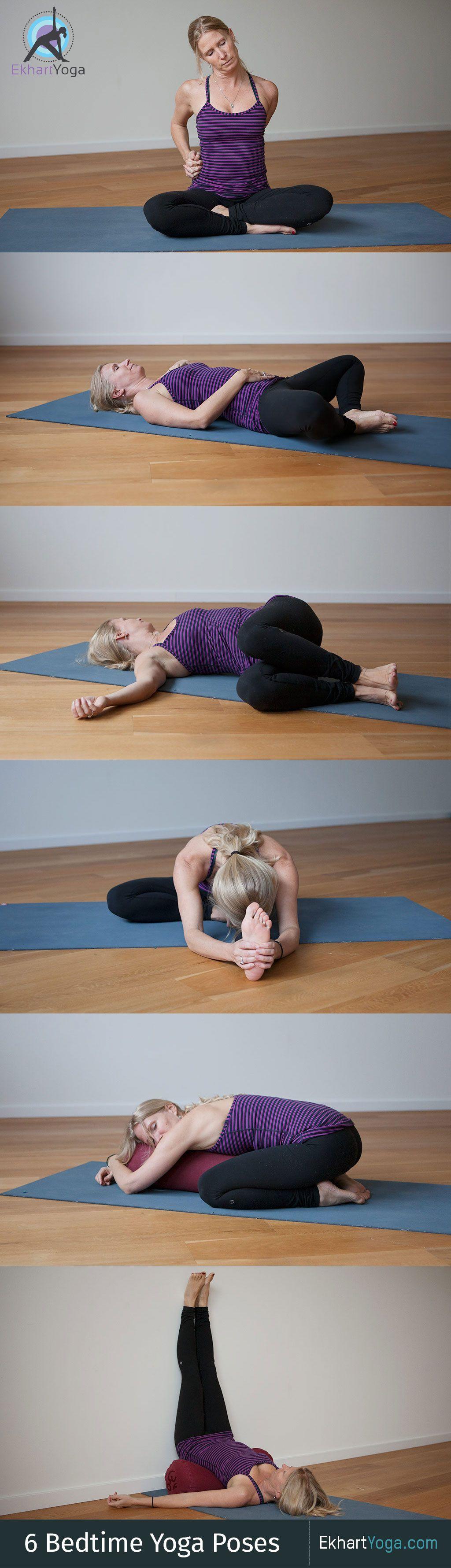 6 Yoga Poses To Help You Fall Asleep Yoga Poses Bedtime Yoga Yin Yoga