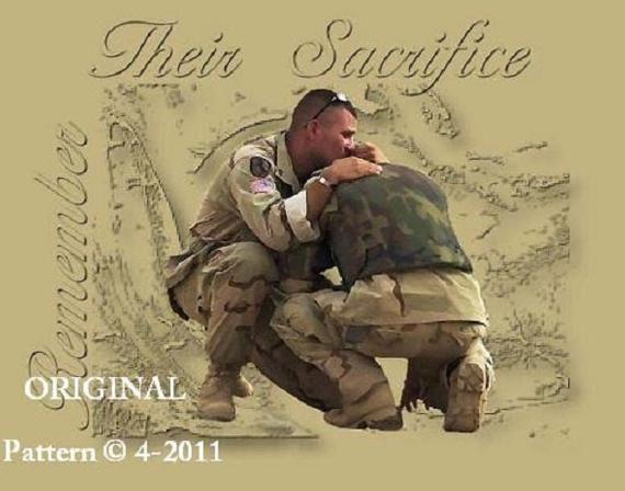 USA Recruitment Poster Ready US Marines Counted Cross Stitch Pattern