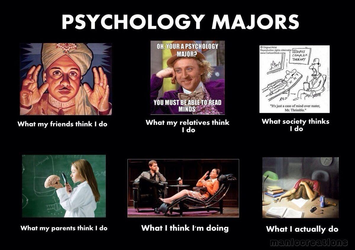 Psychology Majors Psychology Major Humor Psychology Memes Psychology Jokes