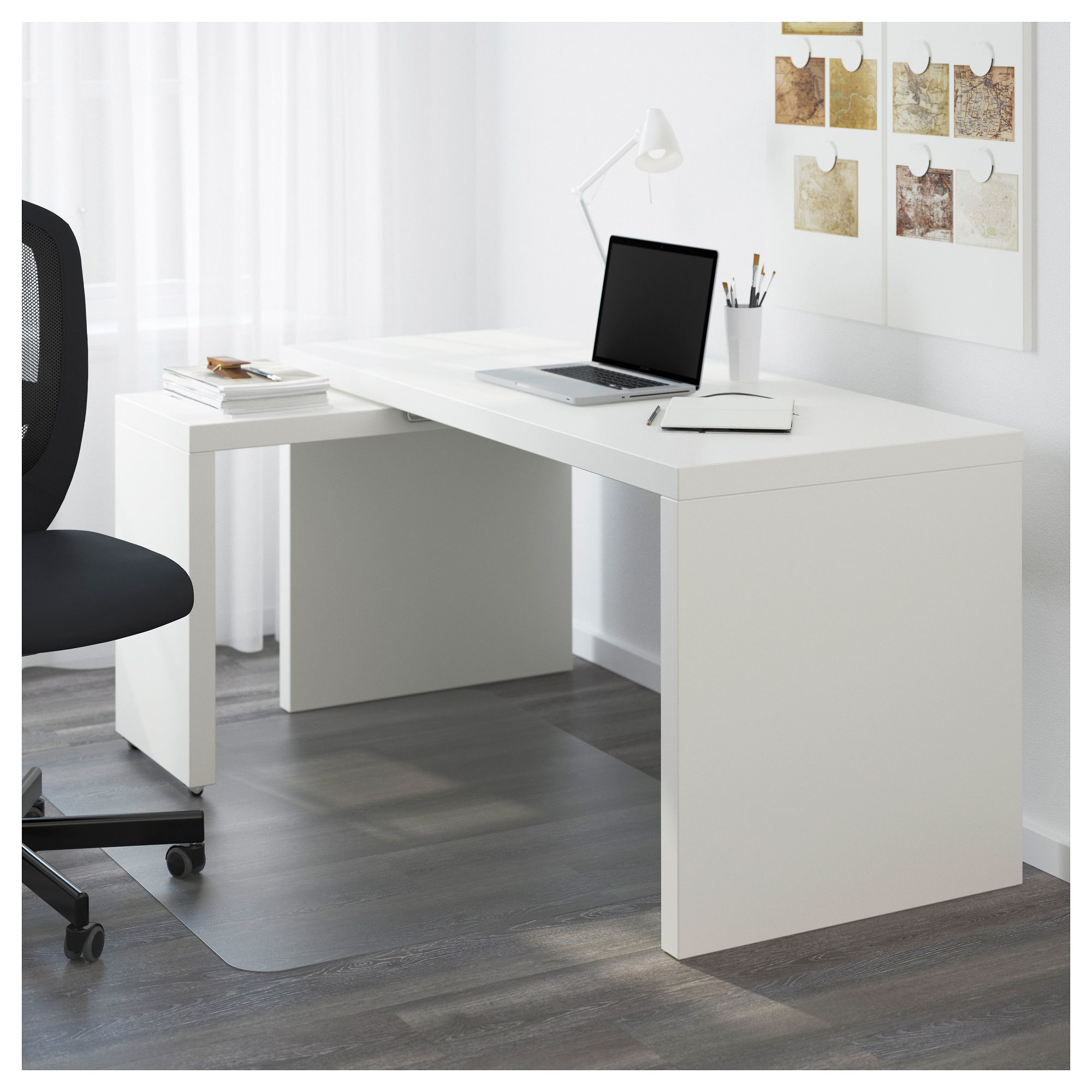 Tablette Bureau Malm Desk With Pull Out Panel White In 2019 Products Bureau