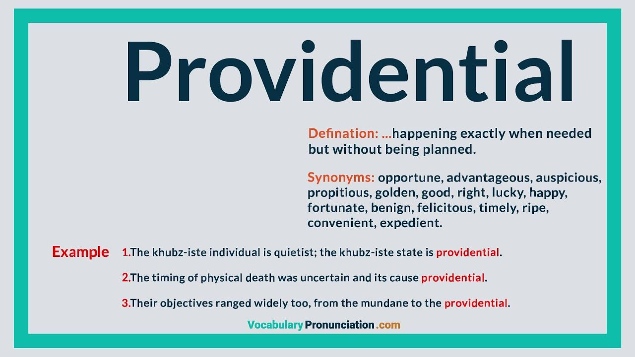Providential  How to pronounce, Ways of learning, English words