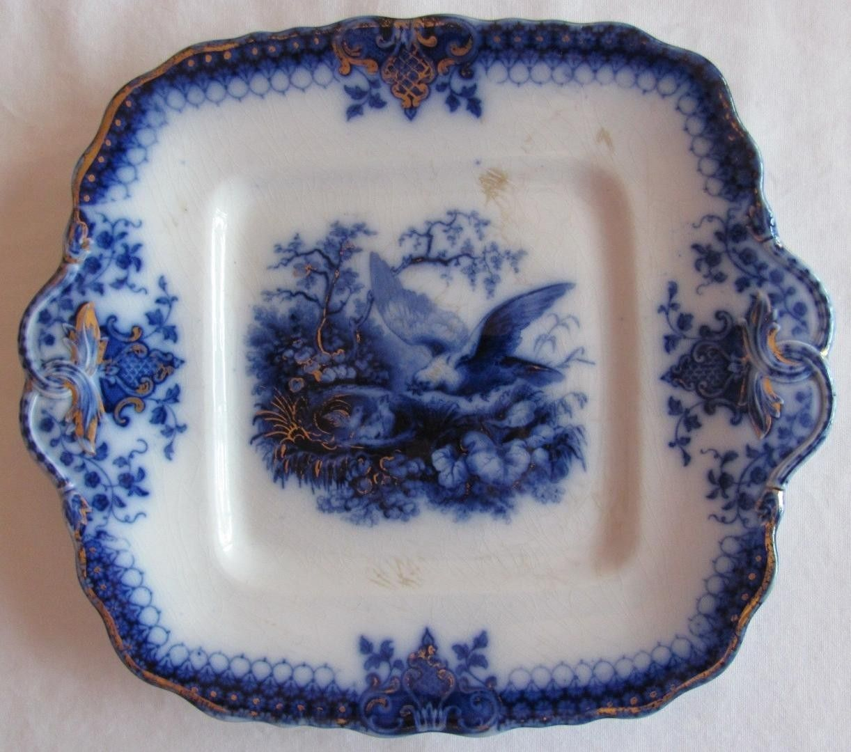 Flow Blue Square Plate India Pattern Vu0026B Villeroy and Boch c.1800u0027s (A) | #1832634184 & Flow Blue Square Plate India Pattern Vu0026B Villeroy and Boch c.1800u0027s ...