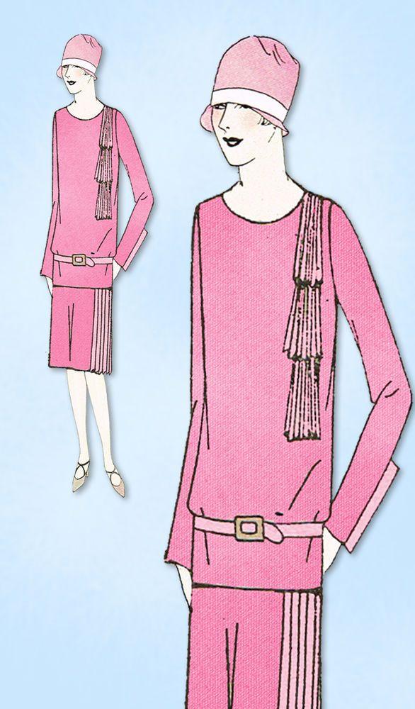 1920s VTG Ladies Home Journal Sewing Pattern 5441 Uncut Flapper ...
