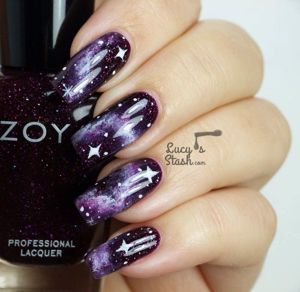 Galaxy Nails at Lucysstash.com   Nails   Pinterest   Galaxy nail