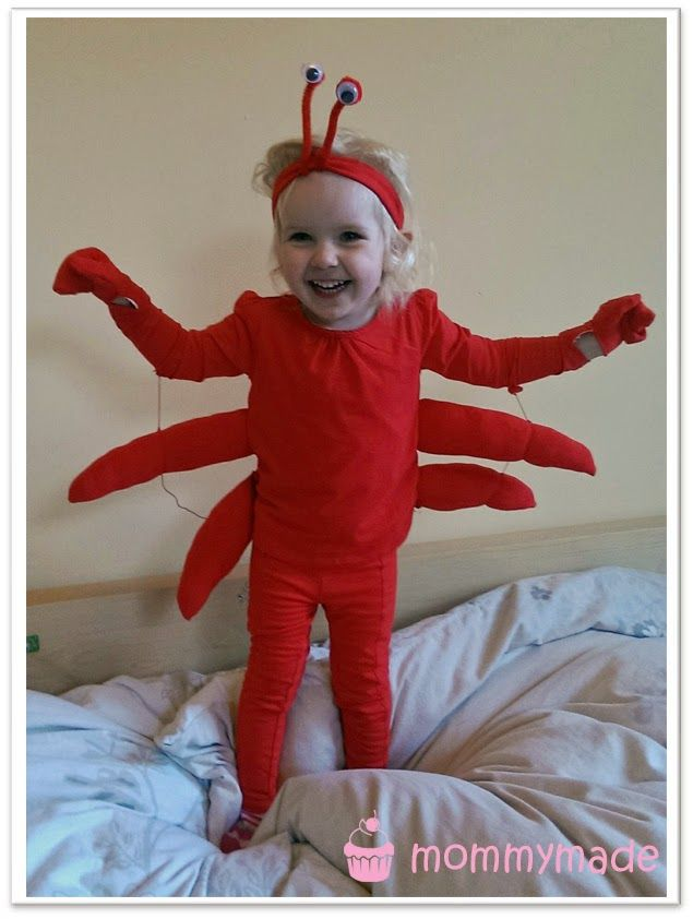 DIY Kostüm Krabbe | Crab costume | lobster | kostüm nähen | Fasching ...