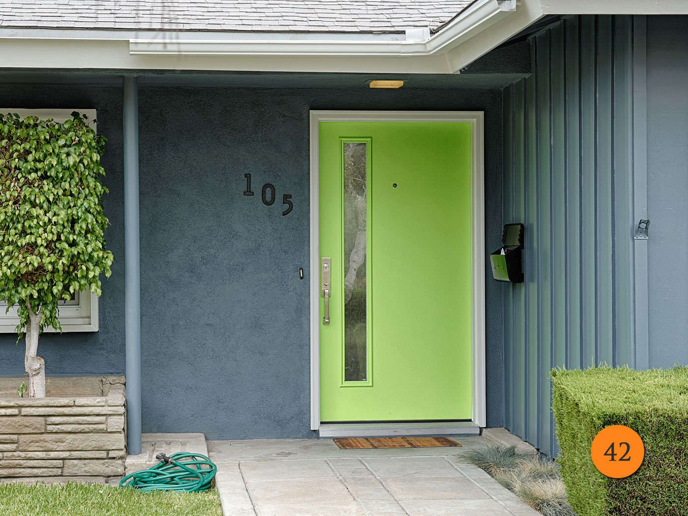 Contemporary Single 42 inch Fiberglass Entry Door. Therma-Tru ...