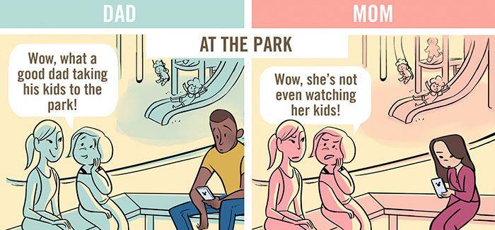 5 x zo verschillend reageren mensen op vaders versus moeders. #famme www.famme.nl