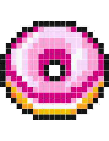 Beignet Rose Stickers Muraux Pixel Art Anime Pixel Art
