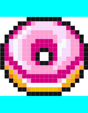 beignet rose pixel nini pinterest pixel art pixel. Black Bedroom Furniture Sets. Home Design Ideas