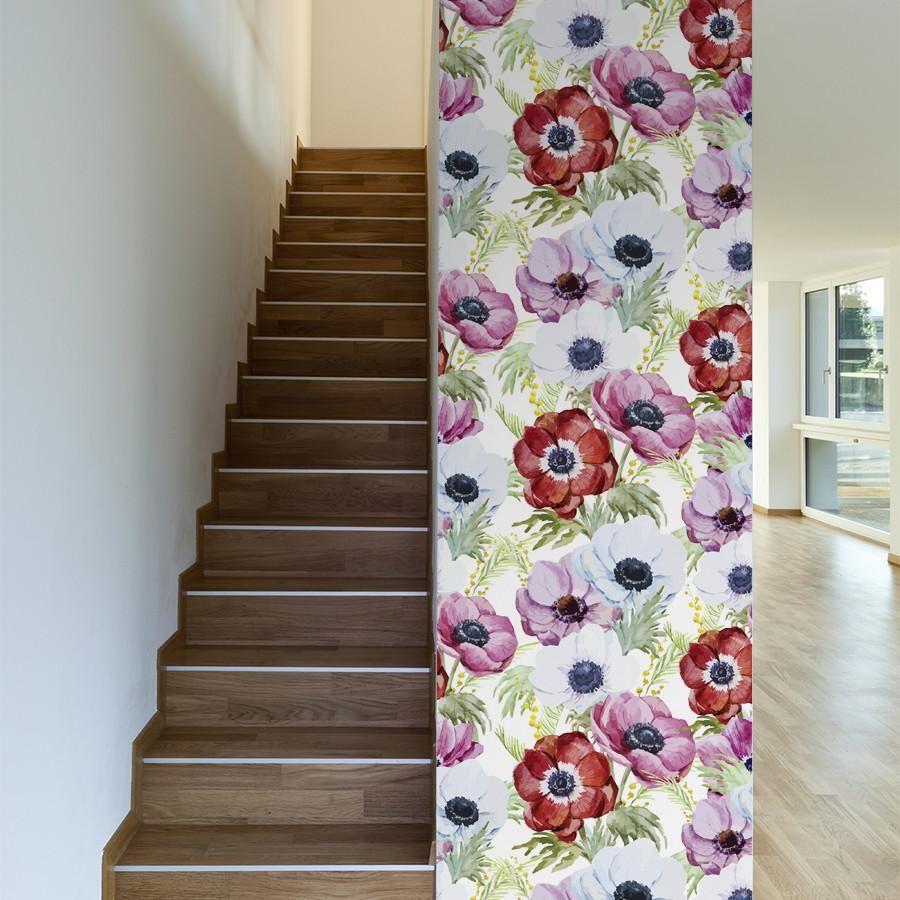 Plentiful Poppies Removable Wallpaper