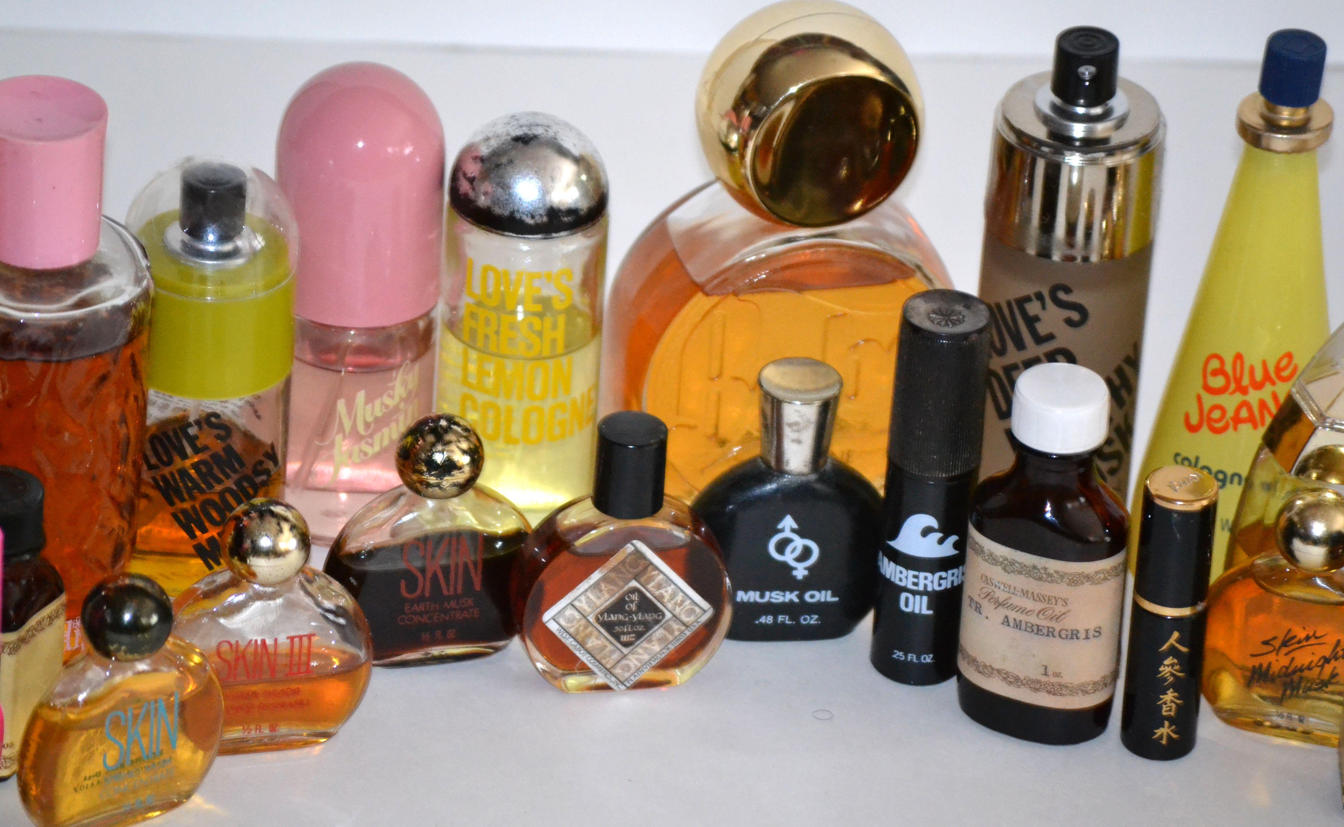 Vintage Perfume Oils & Fragrances Of 70'