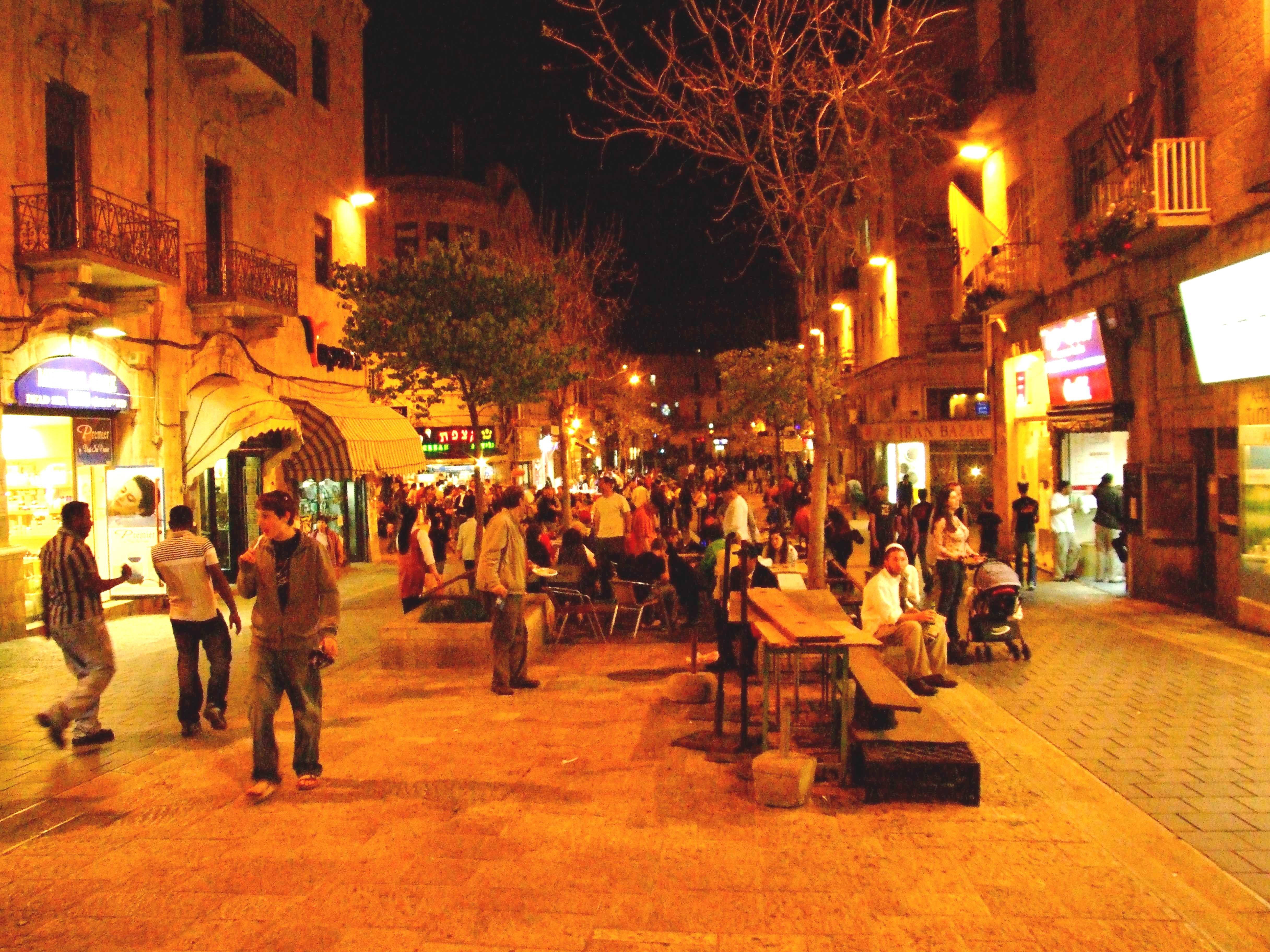 Ben Yehuda By Night Israel Travel Jerusalem Walking Tour