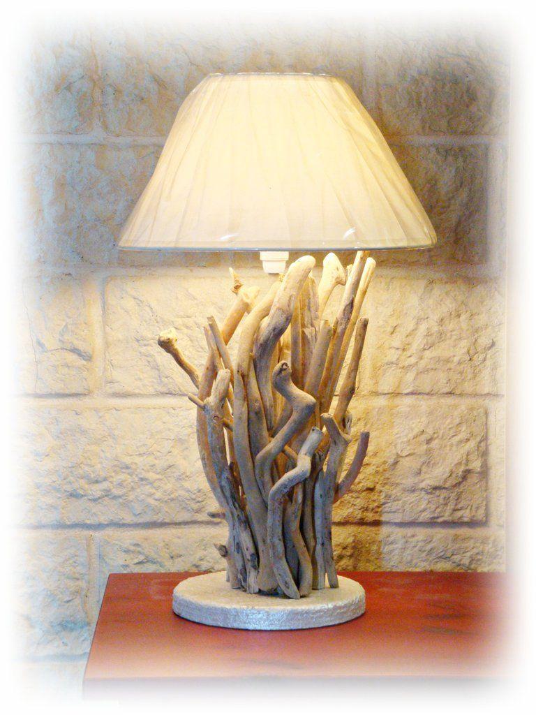 FRANCESCA lampada da tavolo con legni di mare, by Tendance Nature, 160,00 € su misshobby.com ...