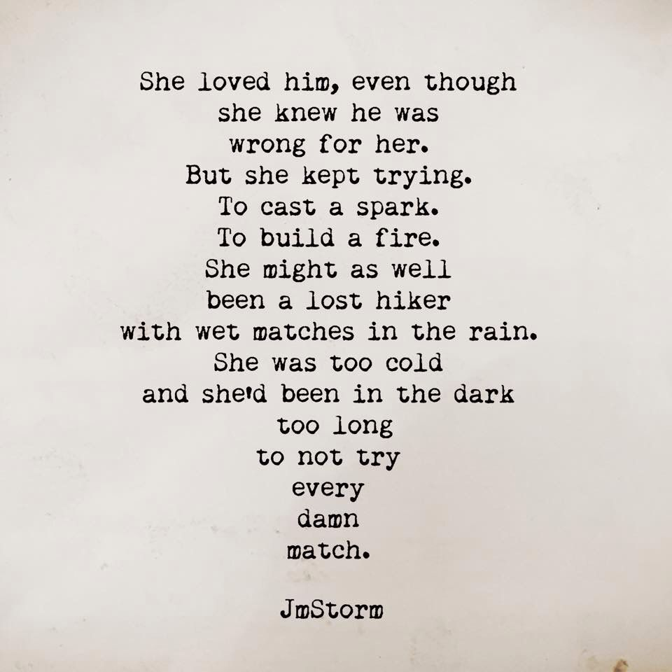 She Loved Him, Even Though She Knew He Was Wrong For Her