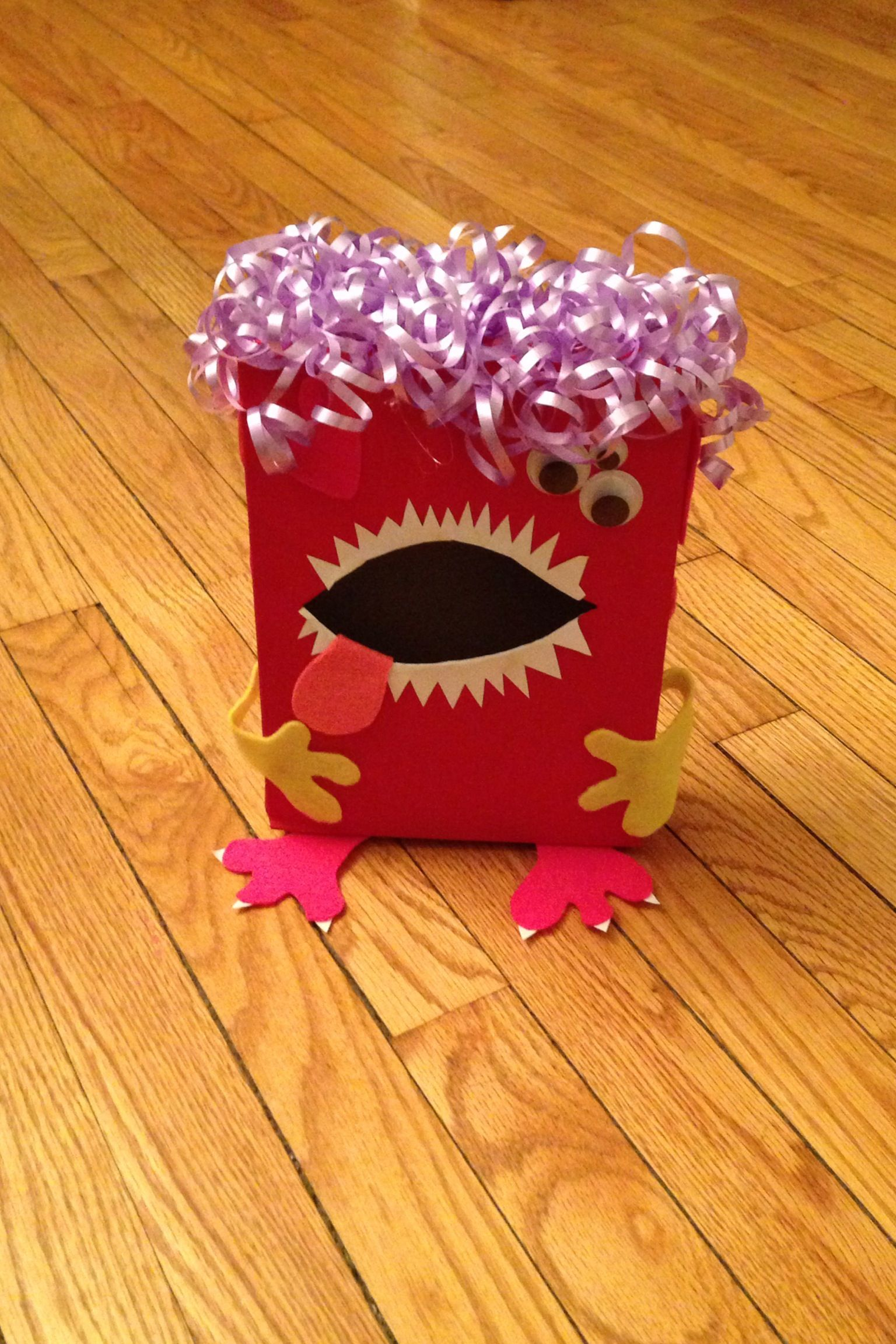 Lainey's monster Valentine's Day box.