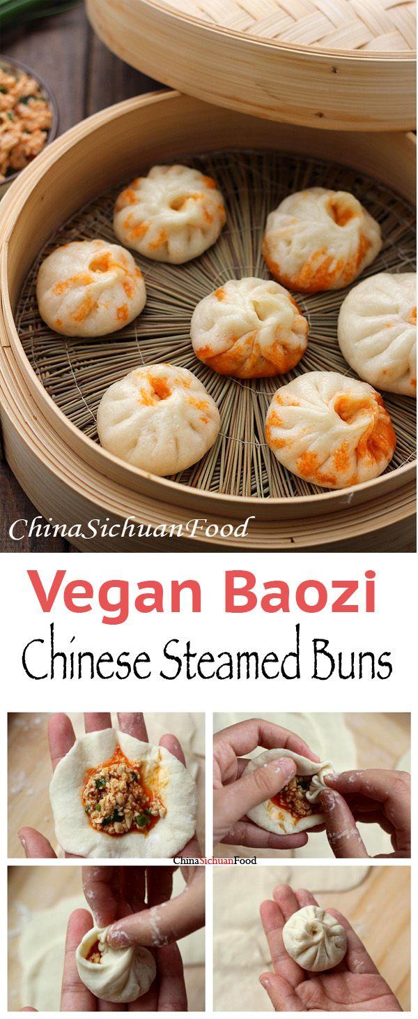 Vegan Baozi (Chinese Steamed Buns) | ChinaSichuanFood.com
