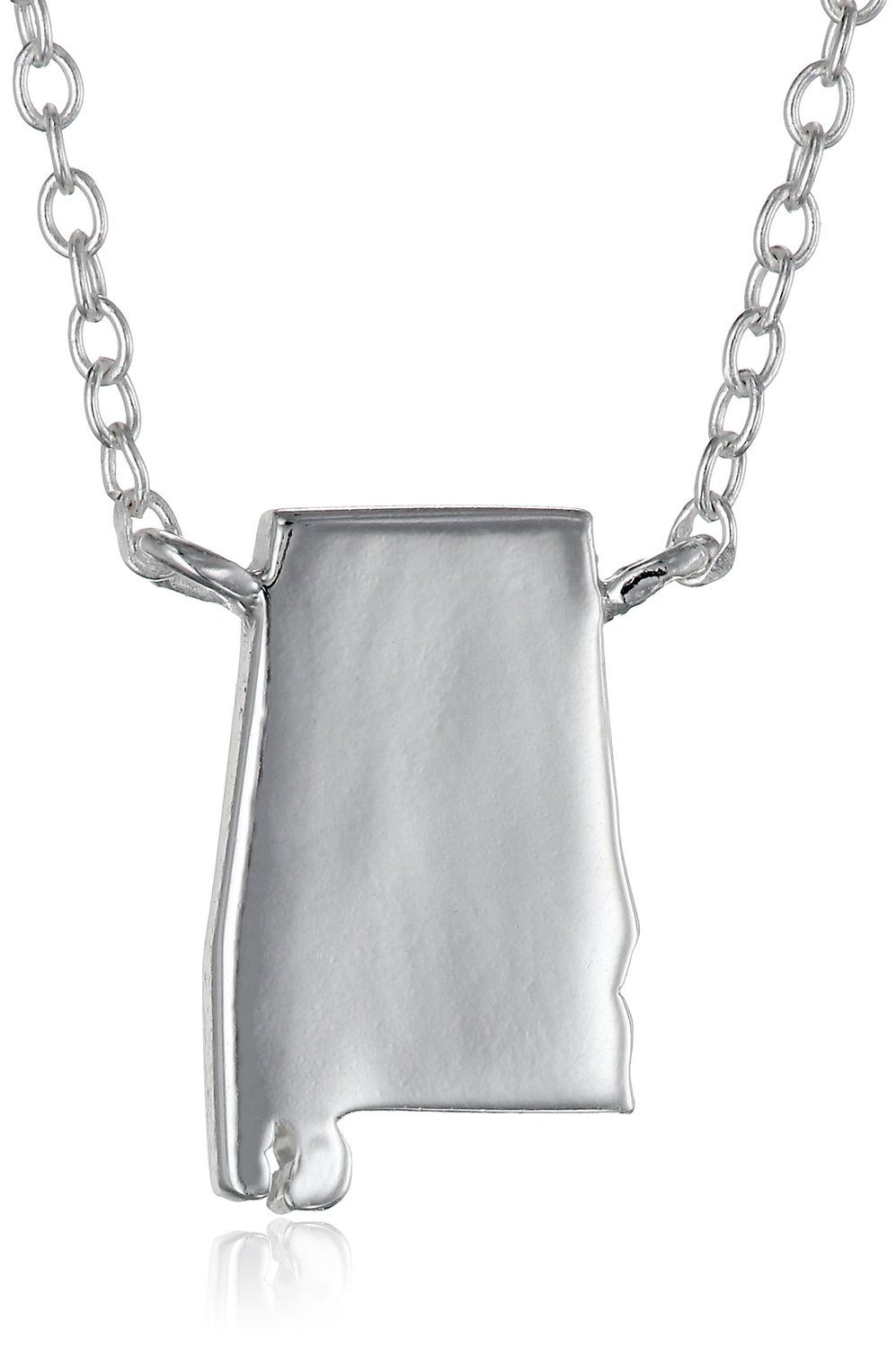 Sterling Silver Stationed Mini State Pendant Necklace, 16'+2' Extender *** ADDITIONAL DETAILS @ http://www.finejewelry4u.com/jewelry100/11320/?603