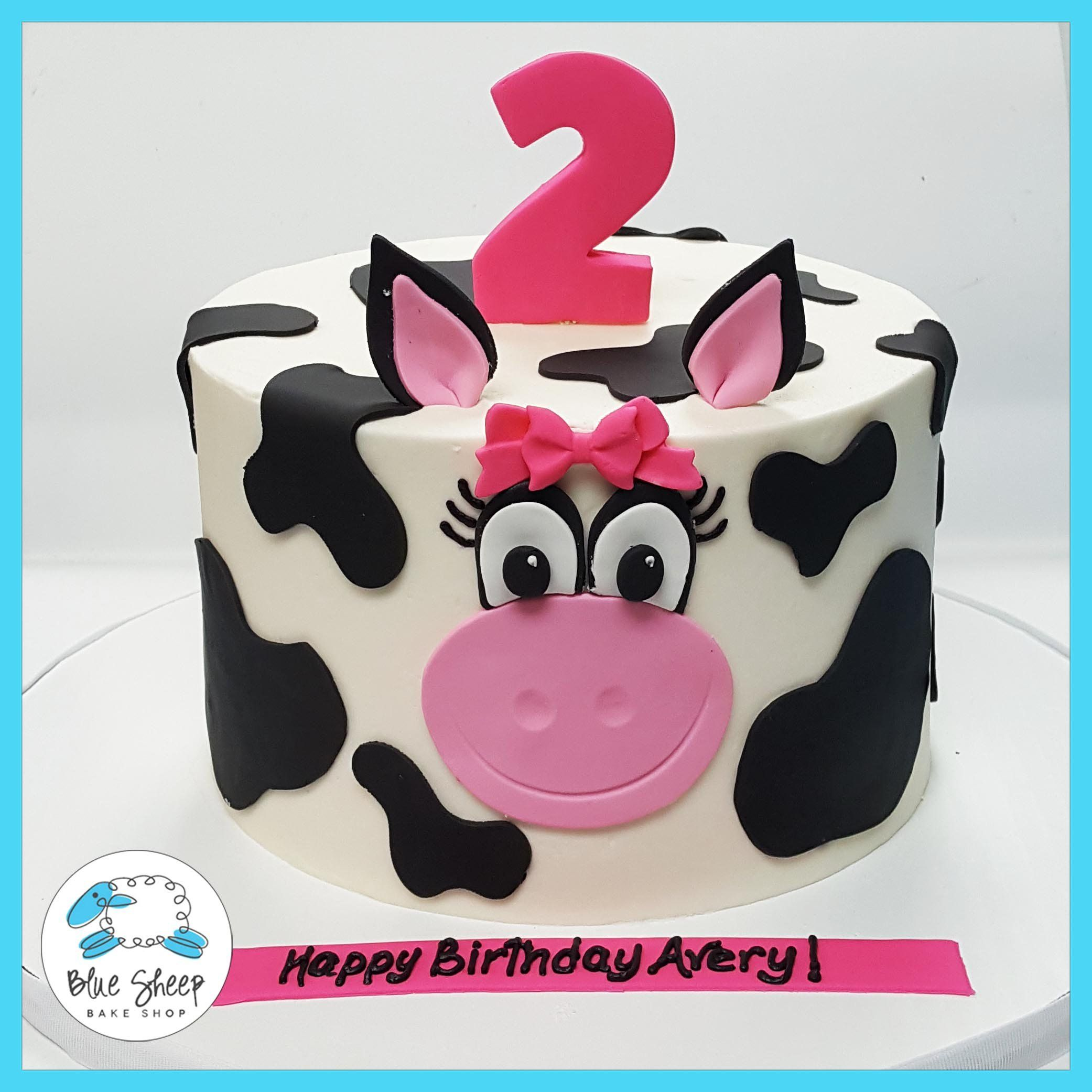 Stupendous Averys Cow Birthday Cake Cow Birthday Cake Cow Birthday Birthday Cards Printable Riciscafe Filternl